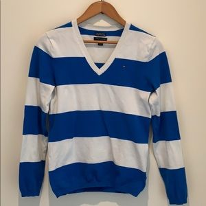 3/$30 Tommy Hilfiger blue stripped cotton sweater